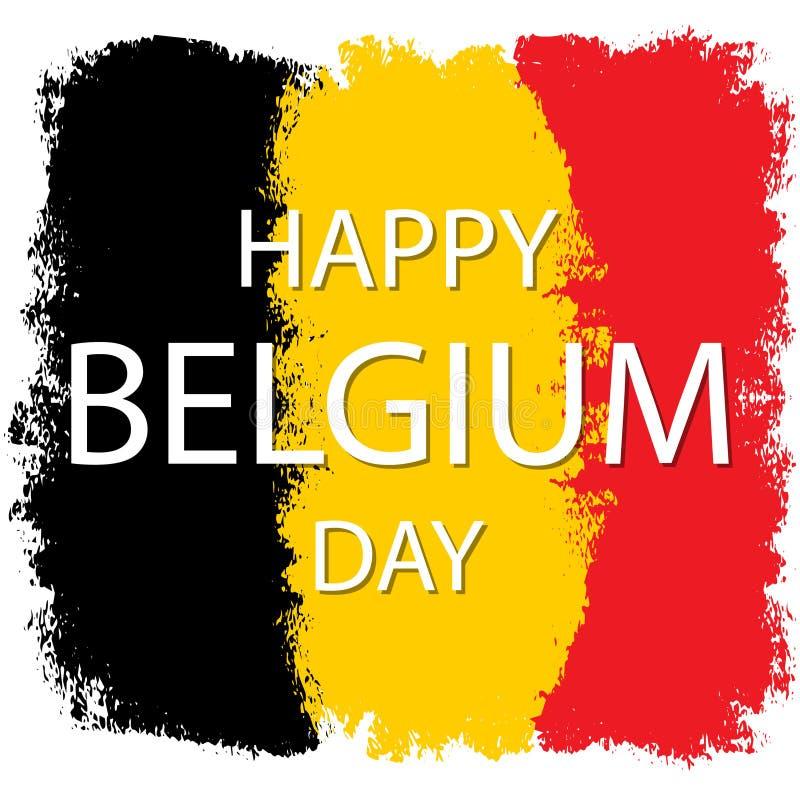 Nationale Dag van België royalty-vrije illustratie