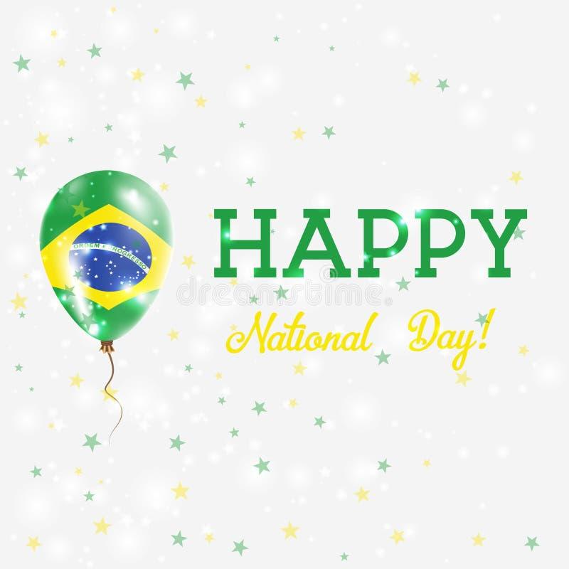 Nationale de Dag patriottische affiche van Brazilië stock illustratie