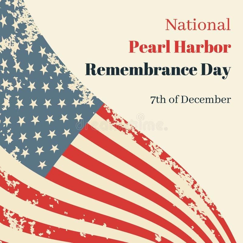 Nationale de Herinneringsdag van de Parelhaven in de V.S. royalty-vrije illustratie