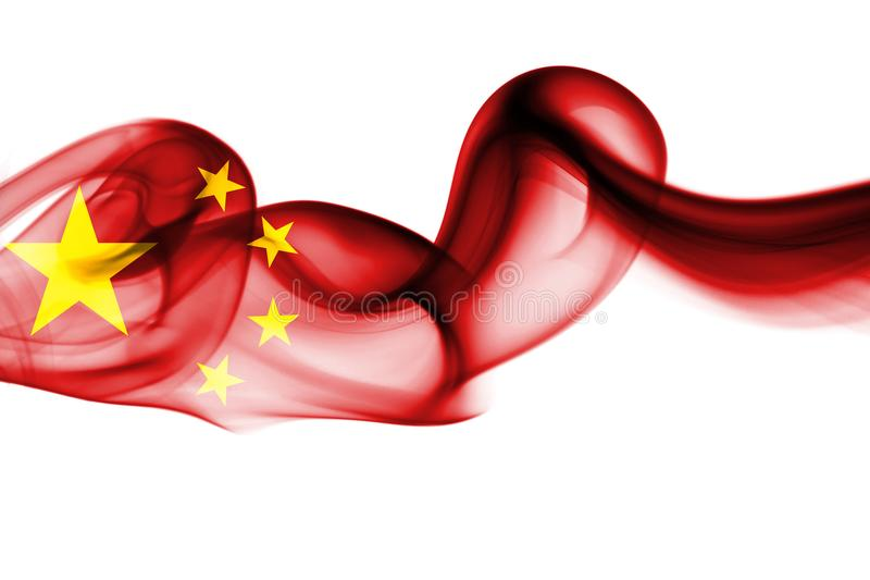 Nationale de rookvlag van China vector illustratie