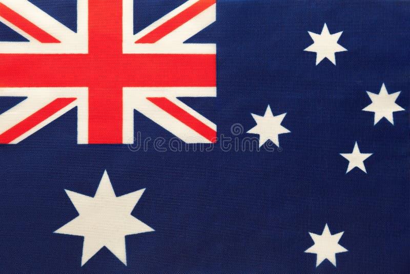 Nationale de stoffenvlag van Australië, textielachtergrond Symbool van internationaal wereldland royalty-vrije stock afbeelding