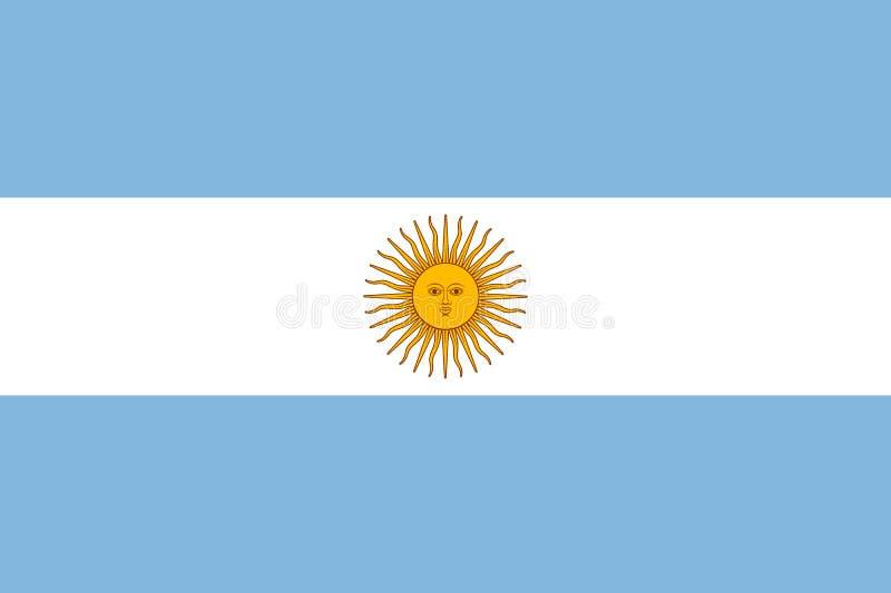 Nationale de vlag vectorillustratie van Argentinië stock illustratie