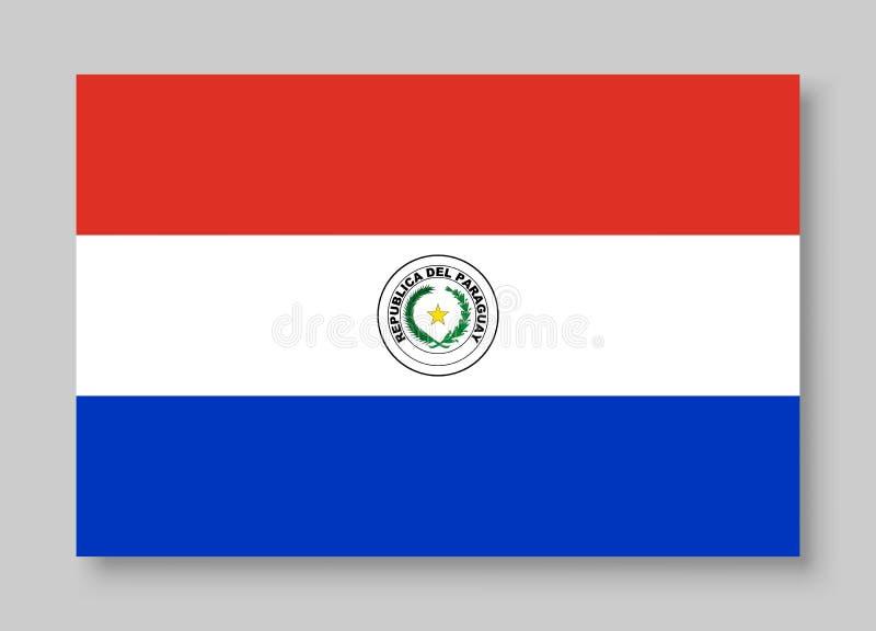 Nationale de vlag vectorillustratie van Paraguay vector illustratie