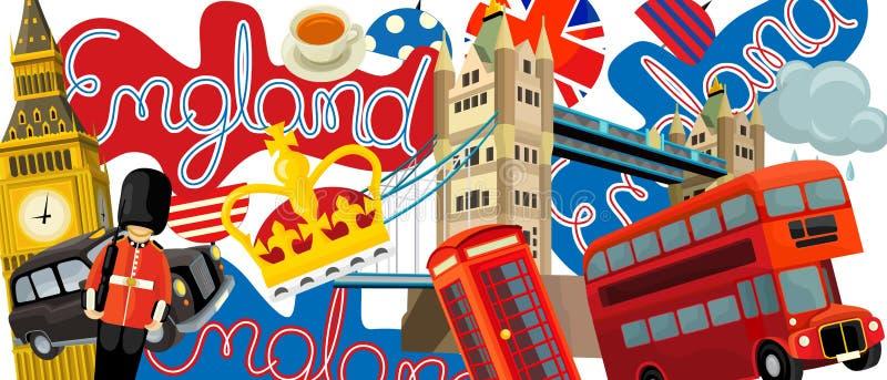 Download Nationale Elementen - Illustratie Voor De Kinderen Stock Illustratie - Illustratie bestaande uit achtergrond, onderwijs: 39113228