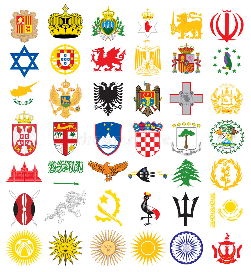 Nationale emblemen royalty-vrije illustratie