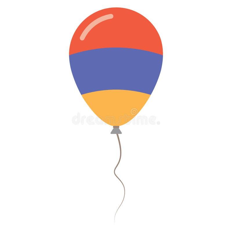 Nationale Farben Republik Armenien lokalisiert lizenzfreie abbildung