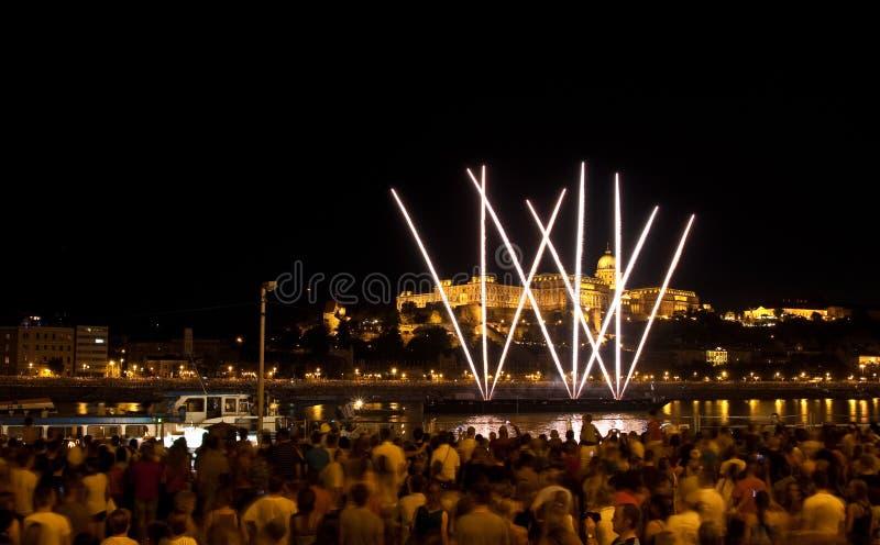 Nationale feestdag in Boedapest royalty-vrije stock foto