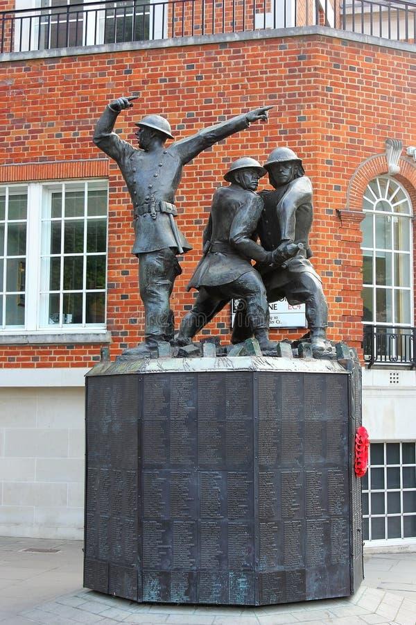Nationale Feuerwehrmänner Erinnerungs in London, Großbritannien lizenzfreies stockfoto