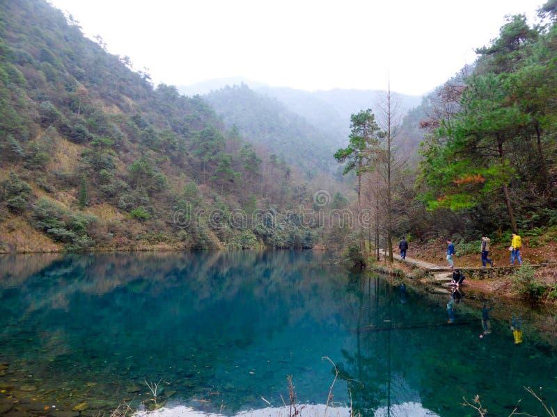 Nationale Forest Park Ansicht Daqishan lizenzfreie stockfotografie