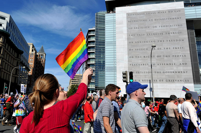 Nationale Gelijkheid Maart in Washington DC stock foto