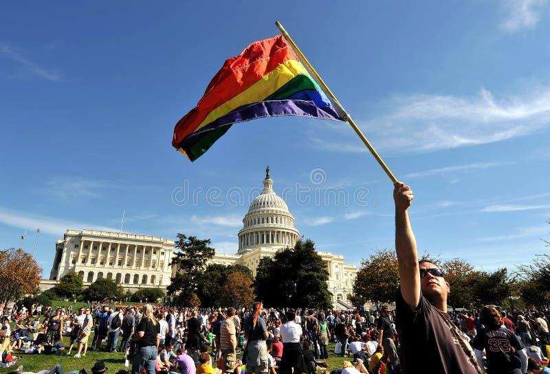 Nationale Gelijkheid Maart in Washington DC stock afbeeldingen