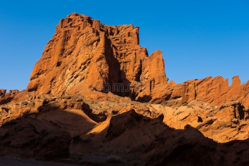 Nationale geologische park van de Tianshan het grote canion royalty-vrije stock foto's