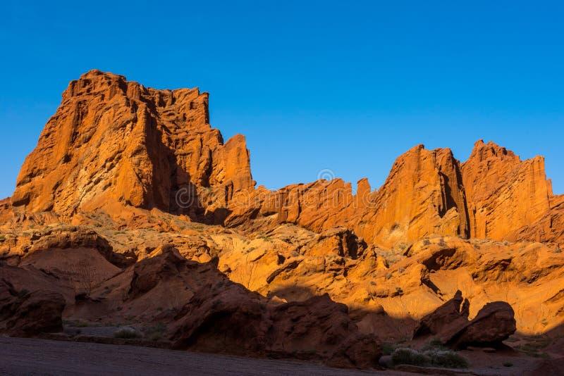 Nationale geologische park van de Tianshan het grote canion royalty-vrije stock afbeelding
