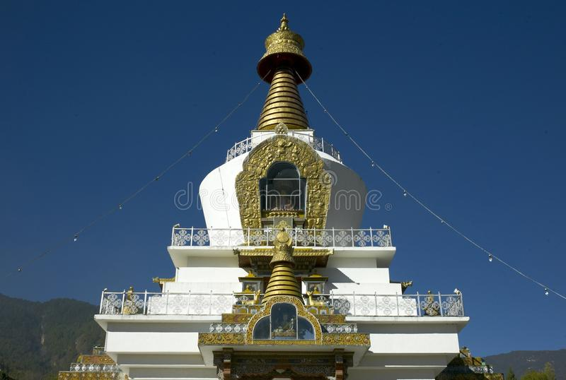 Nationale Herdenkingschorten Thimphu stock foto