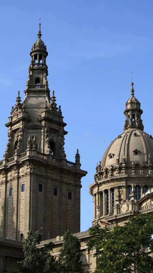 Nationale het museummening van Catalonië royalty-vrije stock afbeeldingen