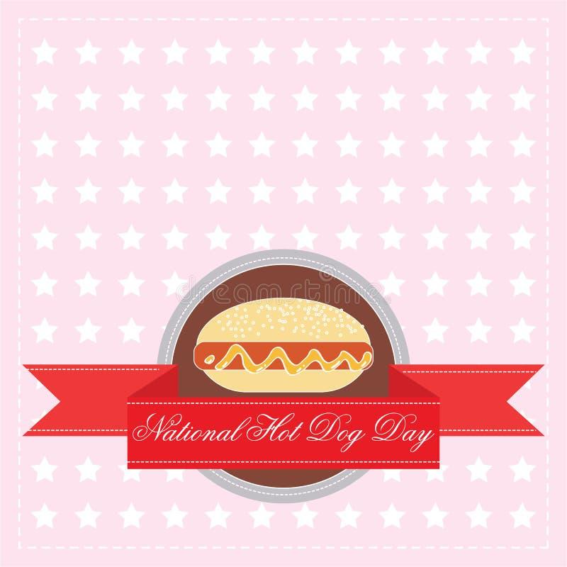 Nationale Hotdogdag vector illustratie