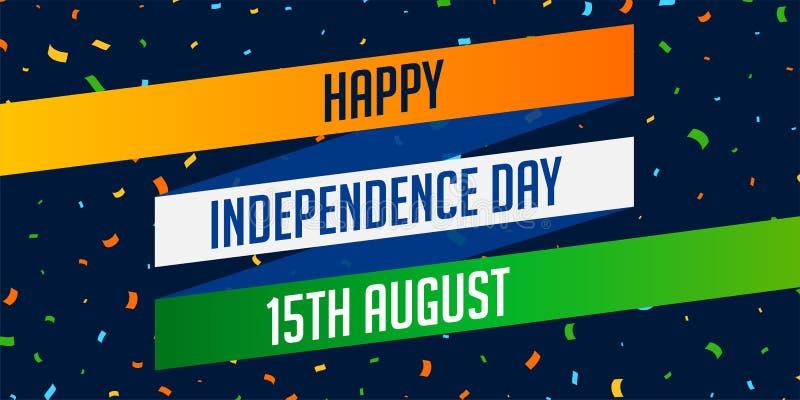 Nationale Indische gelukkige de vieringsachtergrond van de onafhankelijkheidsdag royalty-vrije illustratie