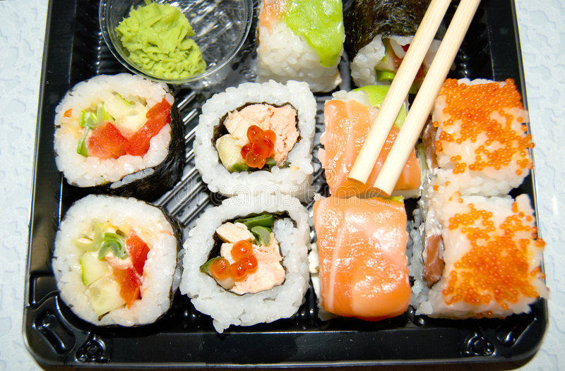 Nationale Japanse maaltijd. stock foto's