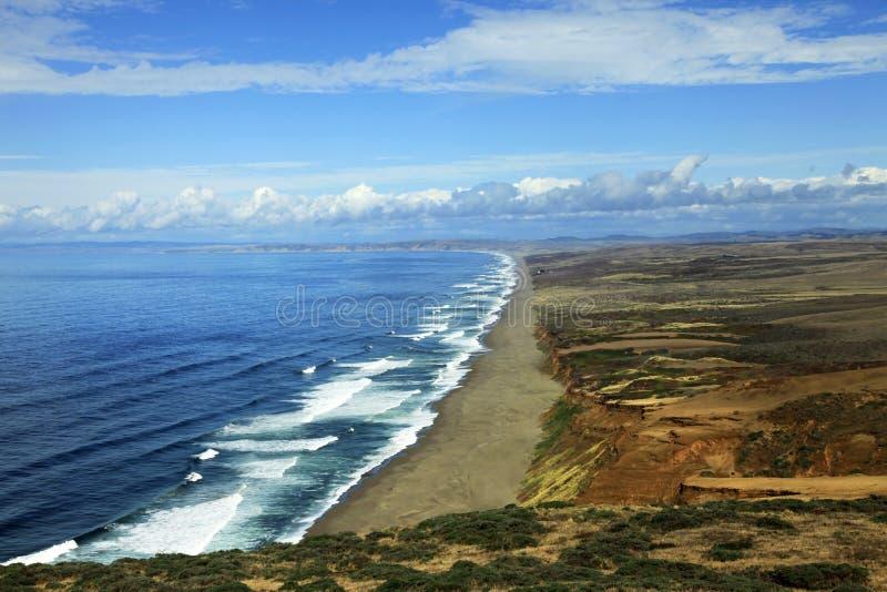 Nationale Küste Punkt-Reyes in Kalifornien lizenzfreie stockbilder