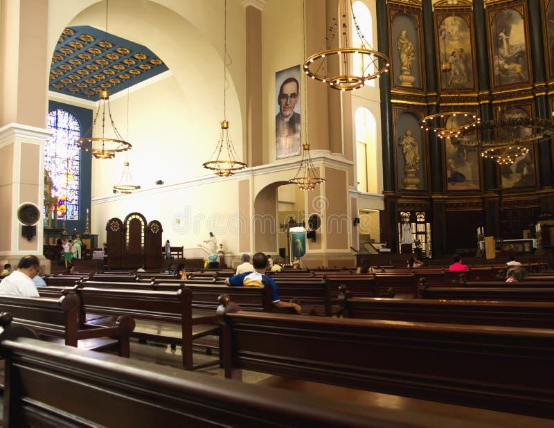 Nationale Kathedraal van El Salvador royalty-vrije stock foto