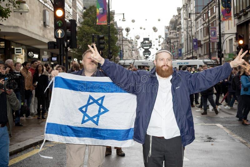 Nationale Manifestatie: Rechtvaardigheid Now - maak het voor Palestina Londen juist stock foto's