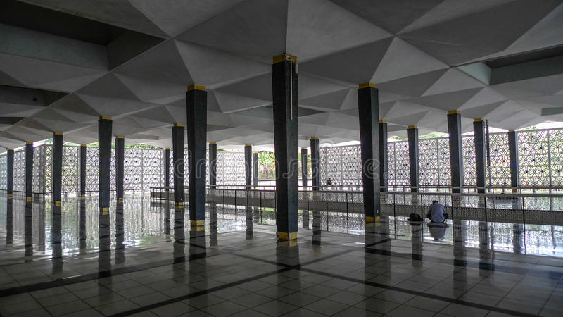 Nationale Moskee Kuala Lumpur royalty-vrije stock afbeelding