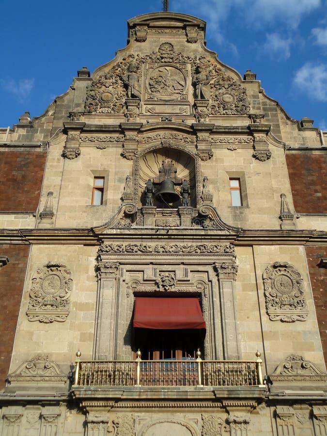 Nationale Palast Balkon-Mexiko Stadt stockbild