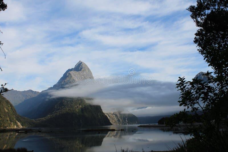 Nationale Park van Milford het Correcte Fiordland royalty-vrije stock afbeeldingen