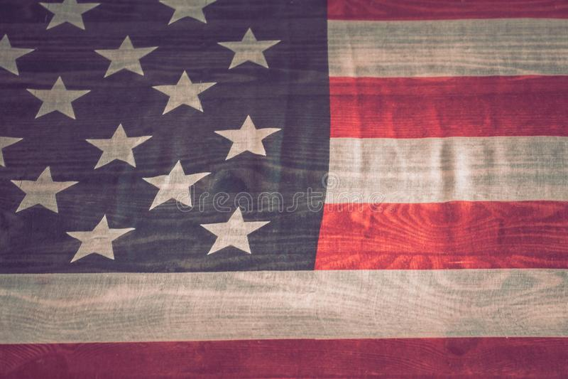 Nationale Patriottische symbolen De oude Amerikaanse vlag royalty-vrije stock foto's