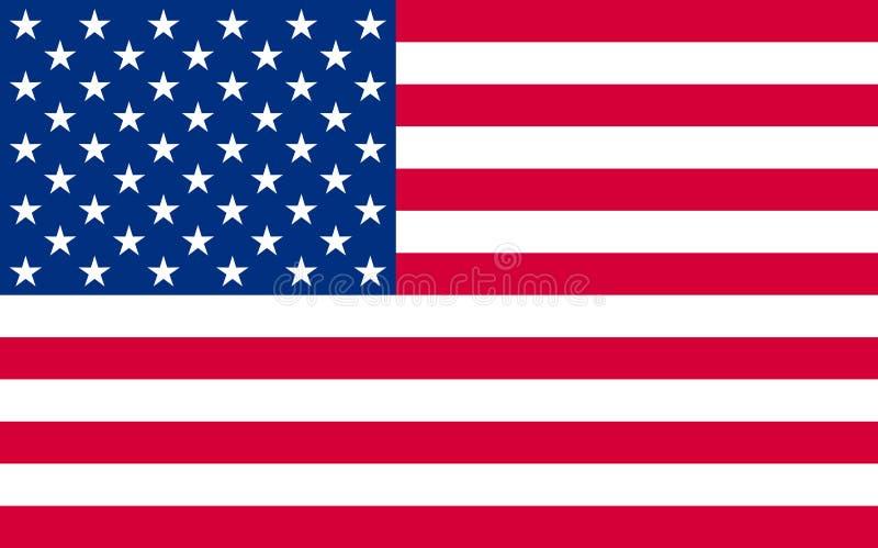 Nationale politische Beamter US-Flagge lizenzfreie stockfotografie