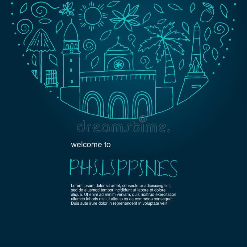 Nationale Sonderzeichen von Philippinen lizenzfreie abbildung