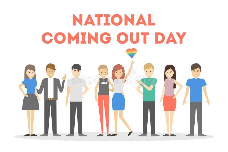 Nationale uit komend dag stock illustratie