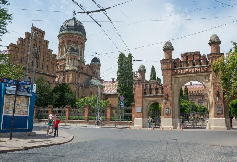 Nationale Universität Chernivtsi, Wohnsitz von Bukovinian und dalmatinische Großstadtbewohner stockbilder