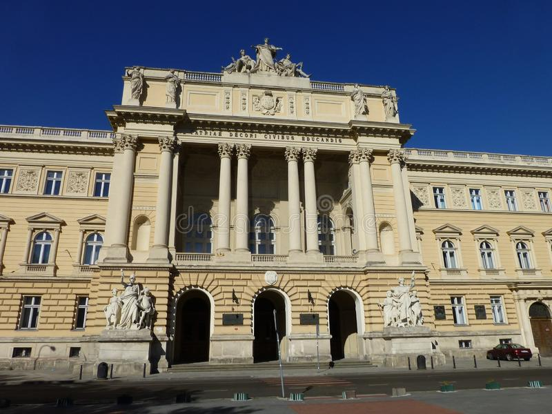 Nationale Universität Lembergs genannt nach Ivan Franko stockfotos