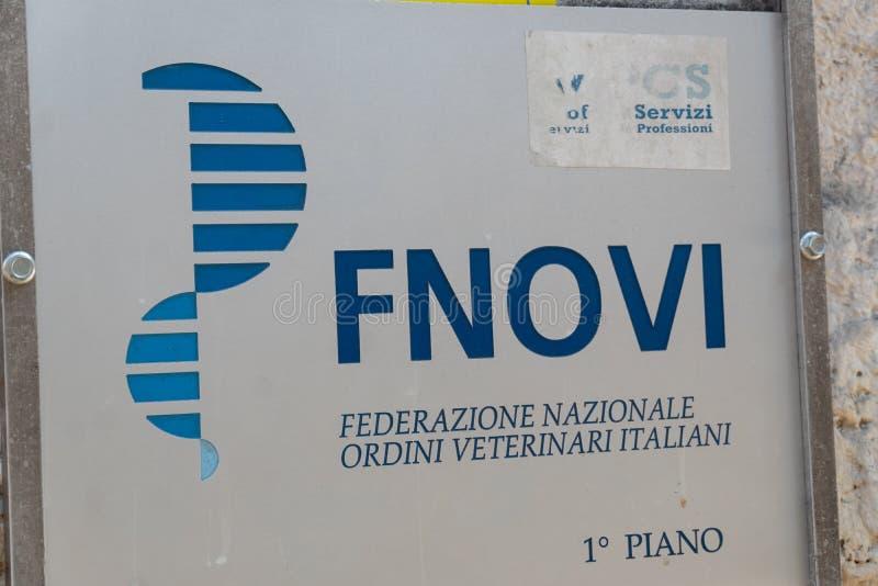 Nationale Vereinigung Fnovi von italienischen Tierärzten stockfotos