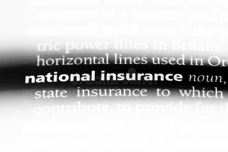 nationale verzekering stock foto's