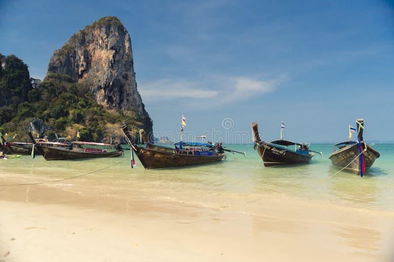 Nationale vissersboot in Thailand stock foto's