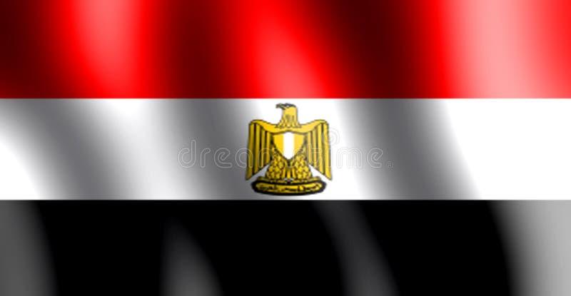 Nationale vlag die van Egypte in de lucht golven royalty-vrije illustratie