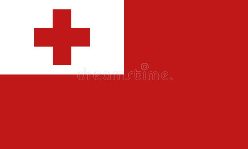 Nationale vlag Tonga royalty-vrije illustratie