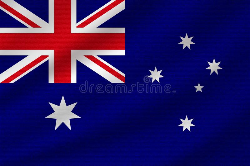 Nationale vlag van Australië royalty-vrije illustratie