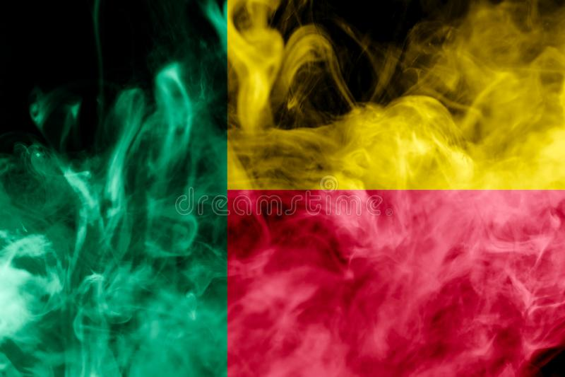 Nationale vlag van benin vector illustratie
