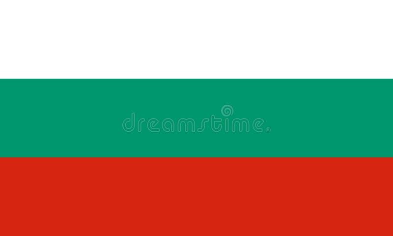 Nationale vlag van Bulgarije stock illustratie