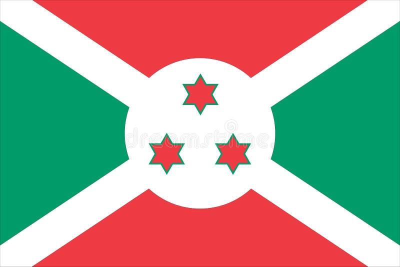 Nationale vlag van Burundi royalty-vrije illustratie