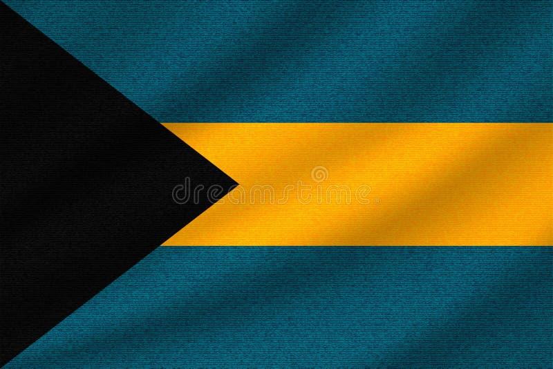 Nationale vlag van de Bahamas stock illustratie