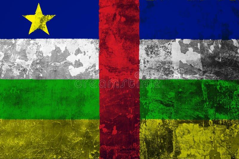 Nationale vlag van de Centraalafrikaanse Republiek op de achtergrond van t royalty-vrije illustratie