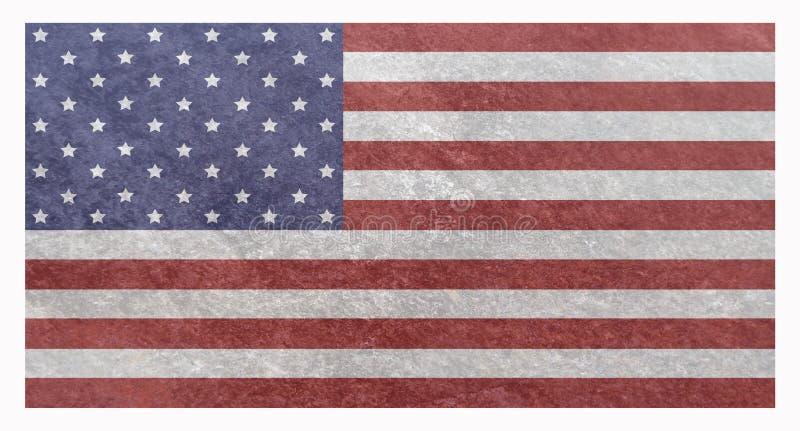 Nationale Vlag van de Grunge de Amerikaanse V.S. royalty-vrije illustratie