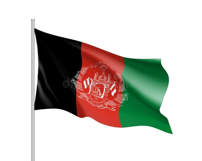 Nationale vlag van de Republiek van Afghanistan stock illustratie