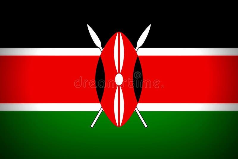 Nationale vlag van Kenia royalty-vrije illustratie