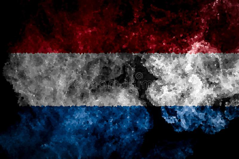 Nationale vlag van Nederland royalty-vrije illustratie
