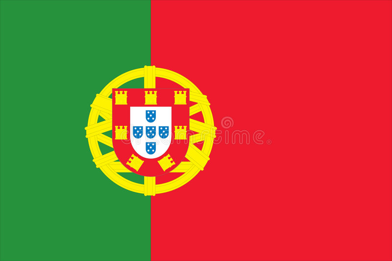 Nationale Vlag van Portugal stock illustratie